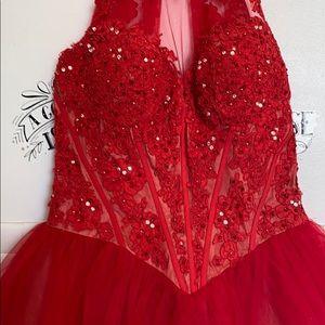 A line Vintage short formal dress
